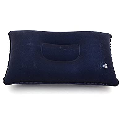 K&A Company New Blue Travel Inflatable Soft Pillow Cushion Protect Neck
