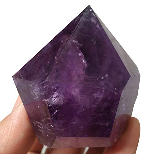 Jdflying Amethyst Crystal Point Purple Mineral Quartz Healing Stones for Gift Home Decoration Gemstone Gem Quartz Meditation Chips Wand Home Worry Purple Novica African Point Dream Catcher