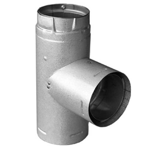 PelletVent Pro Adapter Tee with Clean-Out Tee Cap (3 Inch Dura Vent Type)