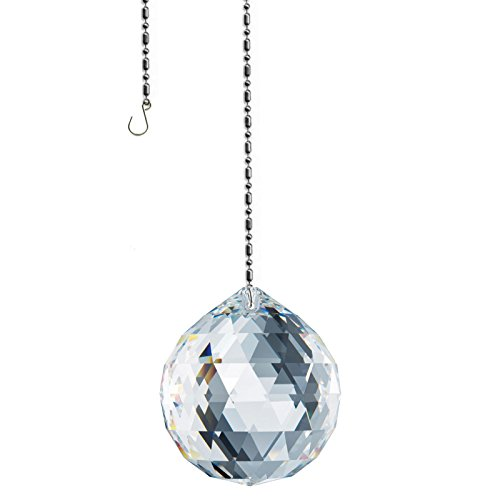 Swarovski Spectra crystal 50mm (2'') Clear Lead Free Feng Shui Faceted Ball Sun Catcher Austrian Crystal with - Suncatcher Prism Crystal Swarovski