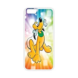 ROBIN YAM Disney Pluto Hard TPU Rubber Coated Phone Case Cover for iPhone 6 4.7