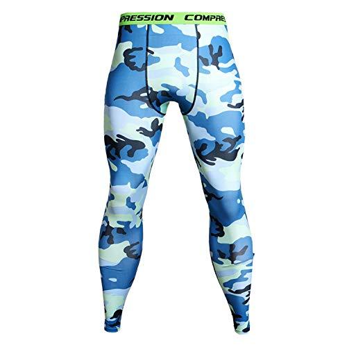 Ronald Turner Camouflage Compression Pants Running Tights Men Soccer Training Pants Fitness Sport Leggings Men Gym Jogging Trousers Sportswear KC-09 XL ()