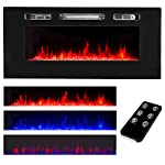 XtremepowerUS Recessed Electric Fireplace in-Wall Wall Mounted Electric Heater Fireplace 750W 1500W by XtremepowerUS