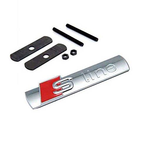 1Pcs s line front grille Sline badge metal emblem Replacement for A4 A5 A6 A7 A8 TT RS S2 S4 S6 Black