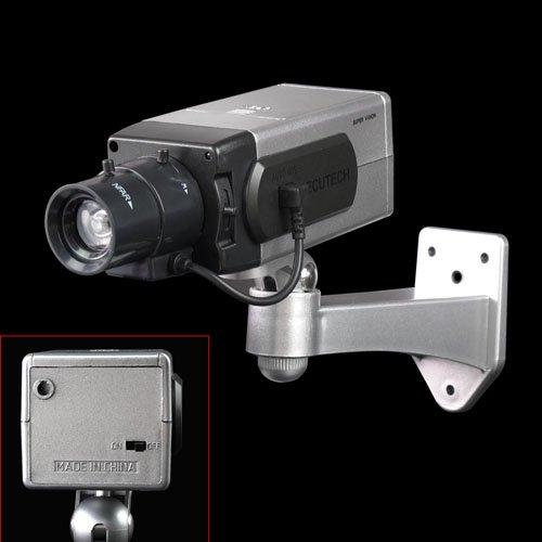 ホームワイヤレス屋内屋外ダミーフェイクタトゥー防水ビデオセキュリティ監視ビデオCCTV IPカメラwith Flashing LEDとモーションセンサー B071R713R9