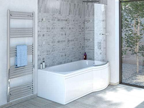La ducha de bañera 170 x 85 cm R con mampara de baño - bañera con ducha: Amazon.es: Bricolaje y herramientas