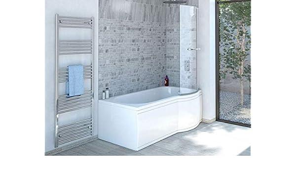 La ducha de bañera 170 x 85 cm R con mampara de baño - bañera con ...