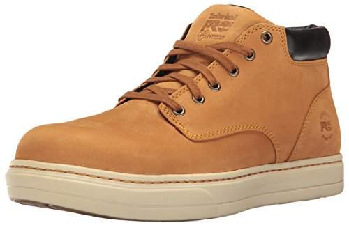 Electrical Hazard Safety Shoes (Timberland PRO Men's Disruptor Chukka Alloy Safety Toe EH Industrial and Construction Shoe, Wheat Nubuck, 10.5 W US)