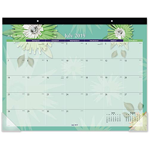 AT-A-GLANCE 2019-2020 Academic Year Monthly Desk Pad Calendar, Standard, 21-3/4