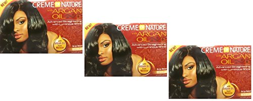 3 x Relaxer / smoothing Cream of Nature with argan oil relaxer, regular