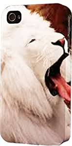 White Lion Sleeping Dimensional Case Fits iPhone 5c by lolosakes