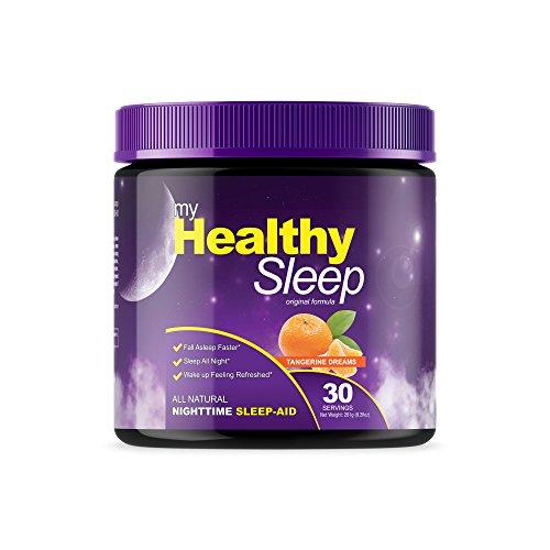 My Healthy Sleep - Natural Sleep-Aid, Sleep Supplement Powder - Contains Melatonin, L-Theanine, L-Tryptophan, Vitamin B6, Passion Flower, Ashwagandha Root, Magnolia Bark, and More! 30 Servings by My Healthy Sleep Original Formula