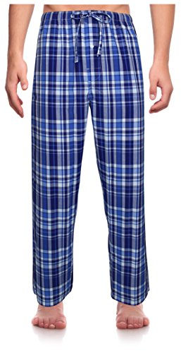RK Classical Sleepwear Men's Woven Pajama Pants, Size Medium
