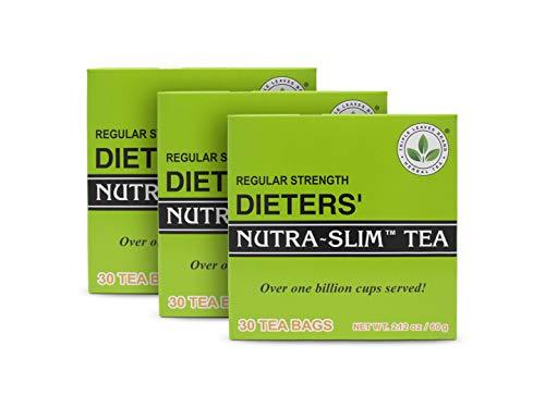 THREE BOXES of 30 tea bags Regular Strength Dieters' Nutra-Slim Tea Triple Leaves Brand