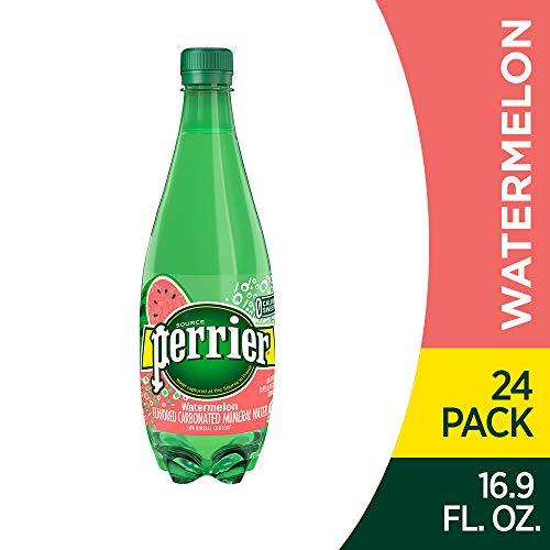 Perrier Watermelon Flavored Sparkling Mineral Water, 16.9 fl oz. Plastic Bottles (Pack of 24) (Best Flavored Sparkling Water Brands)