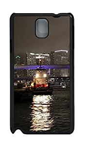 Samsung Note 3 Case Free Port Of Miami City At Night PC Custom Samsung Note 3 Case Cover Black