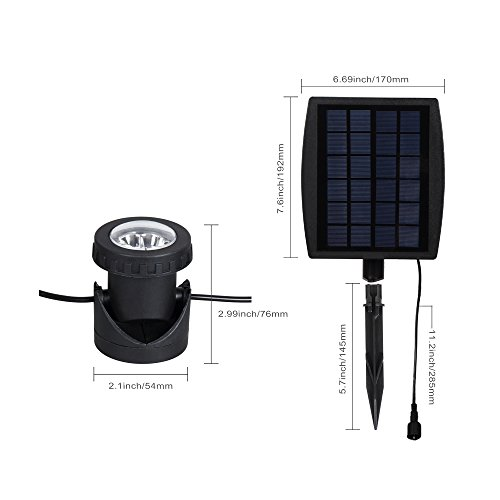 Review T-SUN Solar Pond Lights,