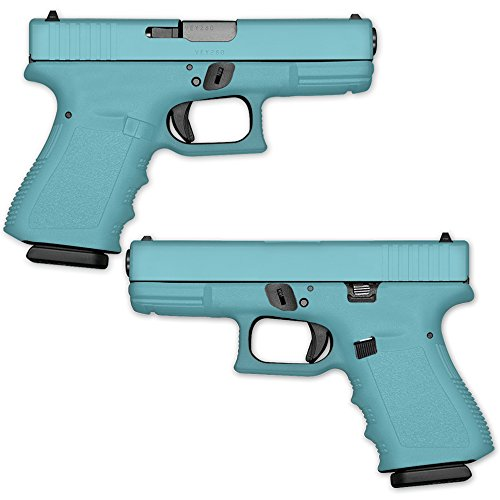 Wrap for Pistol - Solid Baby Blue | MightySkins GunWraps Protective, Durable, and Unique Vinyl Handgun Wrap Kits | Easy To Apply, Remove, and Change Styles | Made in the USA from MightySkins