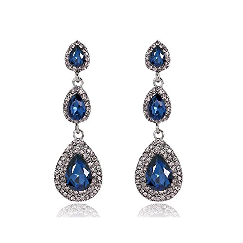 lry for Women,Floral Chandelier Earrings,Crystal Drop Dangle Earrings ()