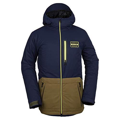 Volcom Men's Analyzer 2 Layer Shell Snow Jacket, Moss, Extra - Vent Volcom