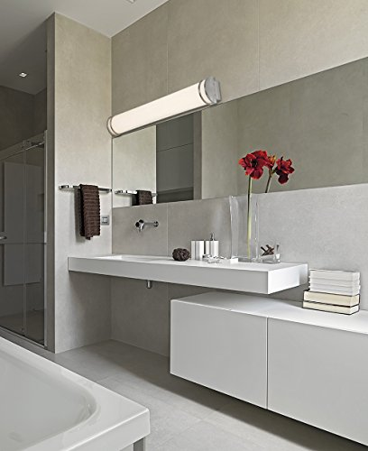 """NEW Flush Mount Brushed Nickel Modern Frosted Bathroom Vanity Light Fixture 