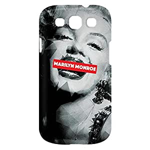Loud Universe Samsung Galaxy S3 Marilyn Monroe Print 3D Wrap Around Case - Multi Color
