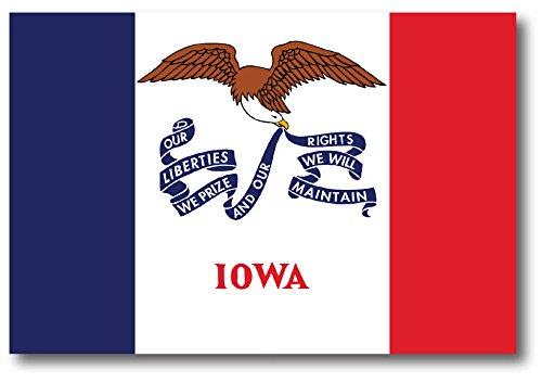 Iowa Car Magnet US State Flag Refrigerator Locker SUV Heavy Duty Waterproof…