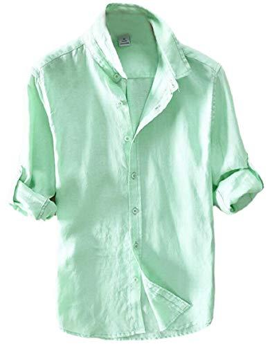 Casual Verdi Camicie Camicie Manica Fit Regular Sera au Button Uomo Da Sodossny Lunga FqTHwSE
