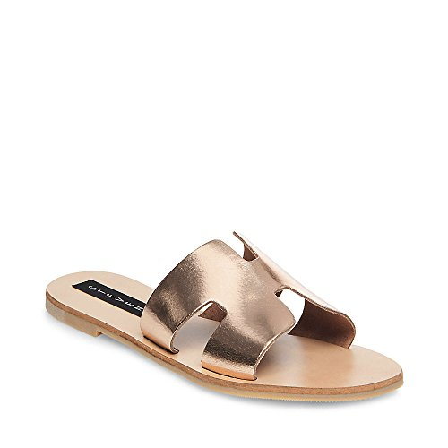 STEVEN by Steve Madden Women's Greece Flat Sandal, Rose Gold, 9.5 M US ()