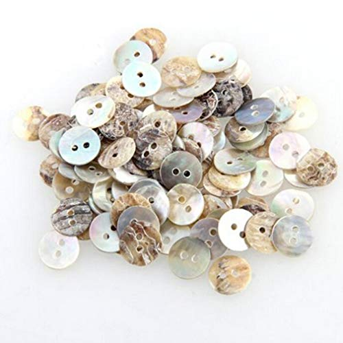 - Welecom 1000 Pcs Natural Shell Buttons 10mm 2 Hole Mother of Pearl Round Shell Buttons for Cloth Sewing Craft Buttons