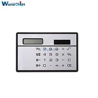 Small Solar Power Pocket Calculator 8 Digits Ultra Credit Card