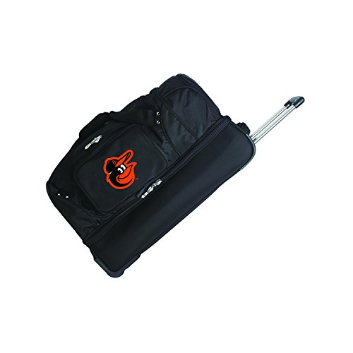 MLB Baltimore Orioles Rolling Drop-Bottom Duffel by Denco