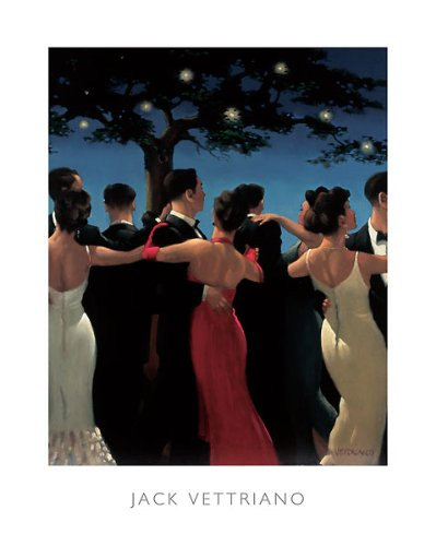 - Waltzers Jack Vettriano Italy Dance Romance Night Under Stars Love Print 15.75x19.5