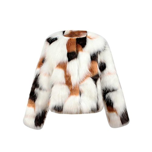 Kids Faux Fur Jacket - LNGRY Kids Baby Girls Autumn Winter Faux Fur Coat Jacket Warm Outwear Clothes (7-8 Years, Brown)