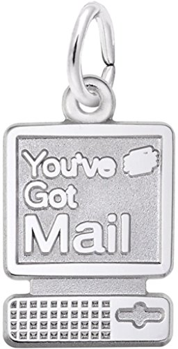 Rembrandt Youve Got Mail Computer Charm - Metal - Sterling Silver