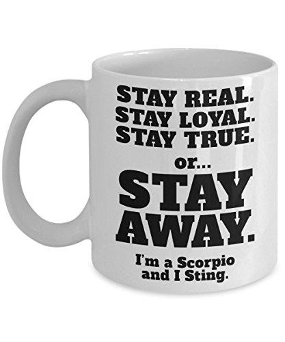 Scorpio Coffee Mug - Astrology Born In November Zodiac Cup