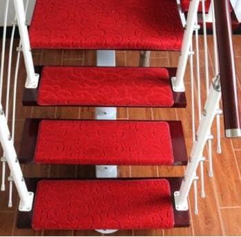 GRENSS 10pcs antideslizante esteras tendencia Escaleras Escalera Europea setpping juegos de alfombras paso alfombra para escalera 65*24cm ancho 24cm para colocar la escalera mat pad,L establecido en 10pcs,700mm x 1400mm: Amazon.es: Hogar