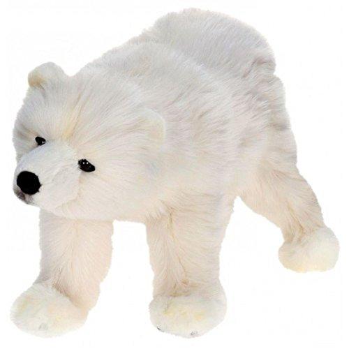 (Pack of 2 Life-like Handcrafted Extra Soft Plush Polar Bear Cub on All 4 Feet Stuffed Animals 18.5