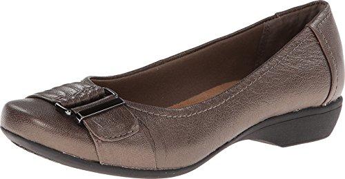 Clarks Propose Pixie2 Pewter Metallic Leather 9-Medium f0QlQ7U