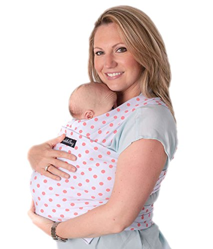 Pink Baby Sling (Baby Wrap - Ergo Baby Carrier by CuddleBug - Available in 9 Colors - Baby Sling, Baby Wrap Carrier, Nursing Cover and Baby Slings and Wraps for Infants and Newborn (Pink Polka))