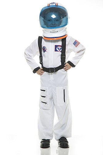 Charades Astronaut Suit Children's Costume, White,