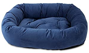 B016Q9IFWI9SD Oliver & Iris Bolster Donut Lounge Dog Bed, Large, Navy