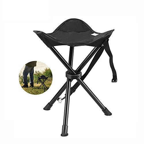 Portable Tripod Stool Folding Chair With Carrying Bag For Outdoor Camping Hunting Hiking Travel Fishing - Lb 200 Tripod
