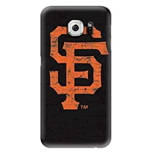 S6 Edge Case, MLB - San Francisco Giants - Solid Distressed - Samsung Galaxy S6 Edge Case - High Quality PC Case