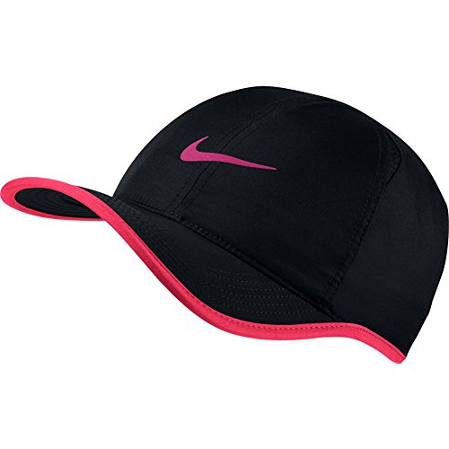 a53956d4c15c2 Galleon - Nike Feather Light Tennis Hat (Black Vivid Pink