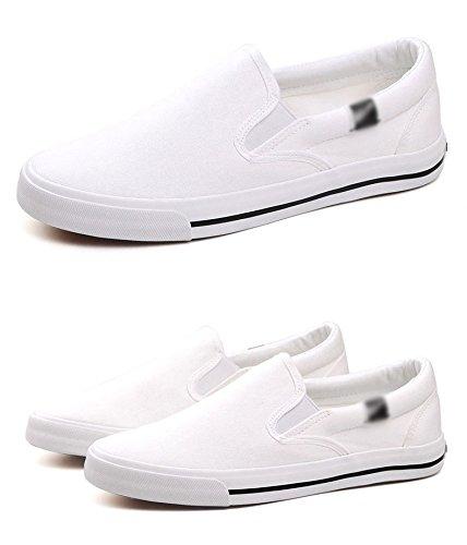 uomo Scarpe pedali da scarpe di uomo da scarpe da WFL stoffa nere uomo casual uomo pigre scarpe da da tela di bianca uomo scarpe E6dn1
