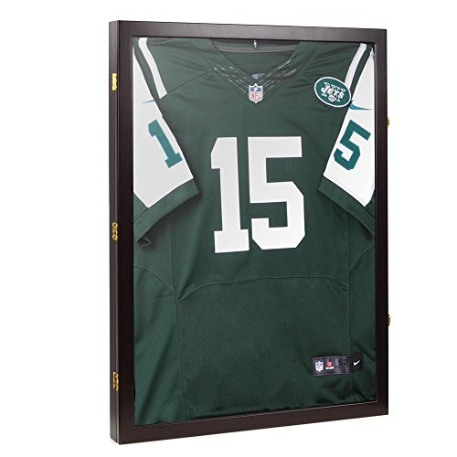 Yescom XL Football Baseball Basketball Cloth Jersey XL Display Case 98% UV Protection Shadow (Autograph Football Case)