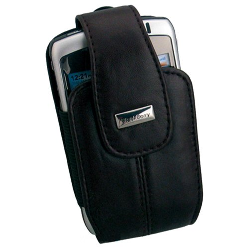 BlackBerry Leather Holster for 8300, 8310, 8320, and 8330 Curve  (Black) Blackberry 8300 Curve Leather