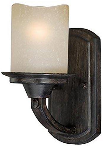 Vaxcel W0146 Halifax 1 Light Vanity Light, Aged Walnut ()