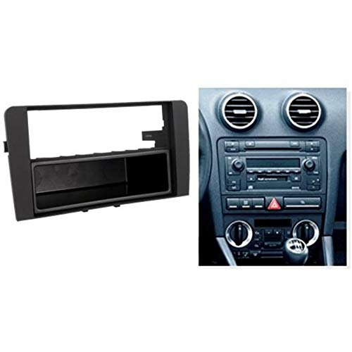 sound-way Kit Montage autoradio Fa/çade Cadre de Radio 1 DIN Audi A3 2006-2010